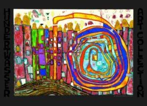 Voorbeeld van een schilderij van Hundertwasser